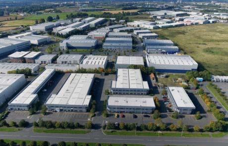 Unités industrielles vue du ciel